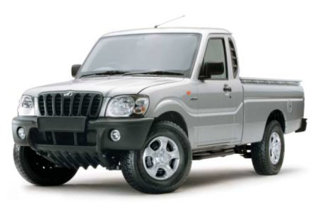 Mahindra's new two-door value-priced diesel truck.