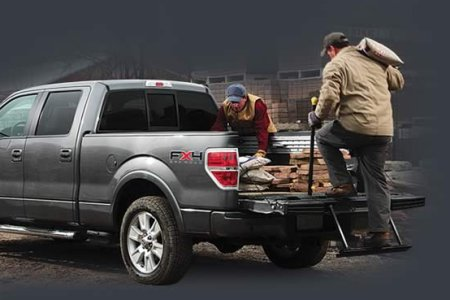Ford's F150 tailgate step in action.
