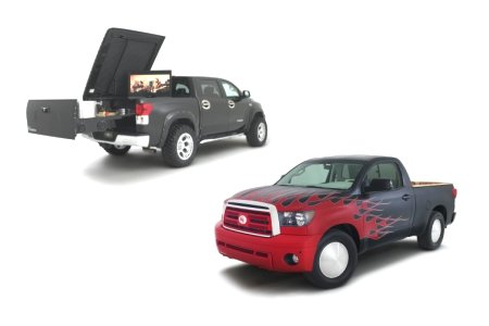 Toyota's custom Tundras shown during the 2009 SEMA show.