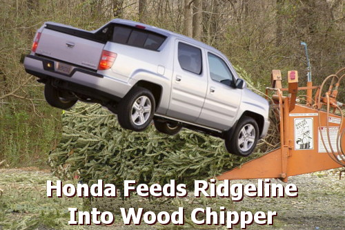 Honda Ridgeline wood chipper