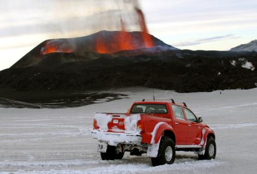 Toyota Trucks Visit A Volcano