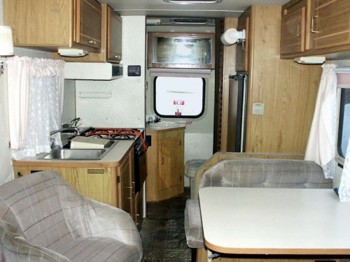 Toyota motorhome interior