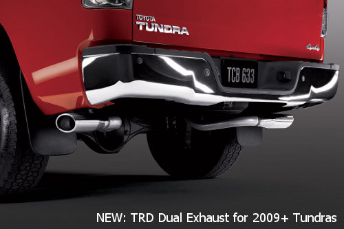 TRD Dual exhaust for 2009 2010 2011 Tundra