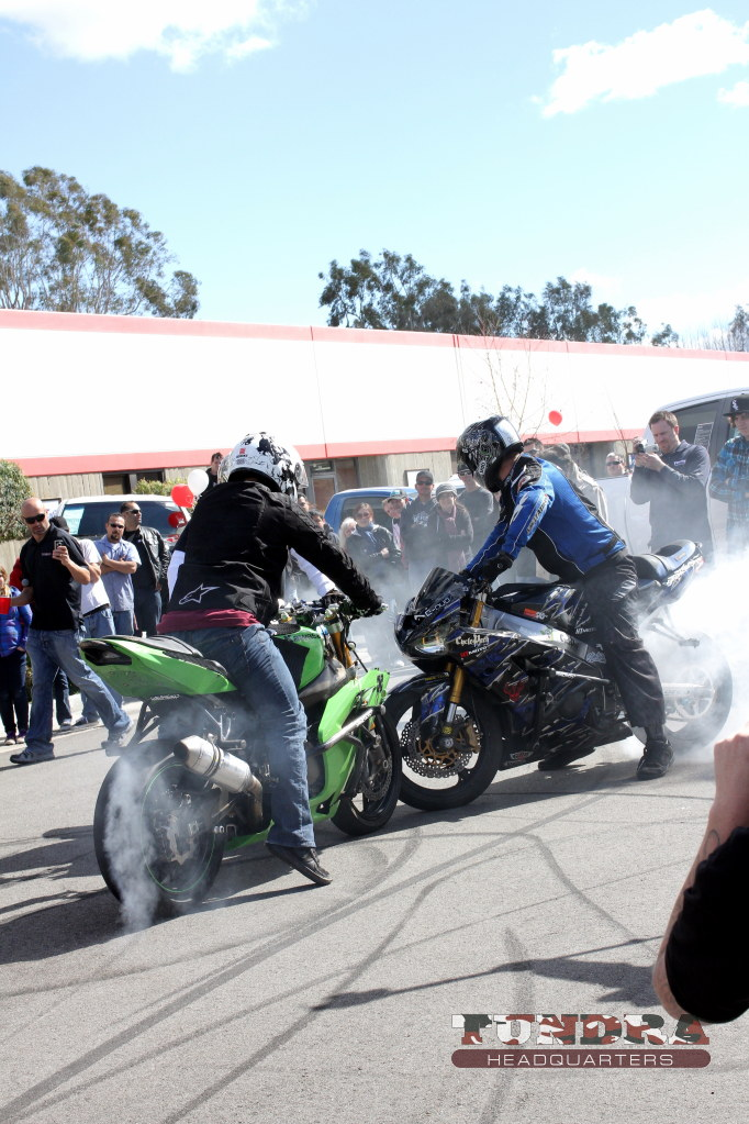 Sport Bike Burnout