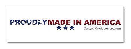 Tundra Made In The USA Bumper Sticker