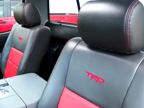 TRD custom leather seats