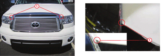 Paint Chip on Hood Due to Grille Contact - TSB