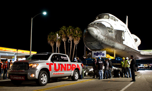 Tundra tow space shuttle