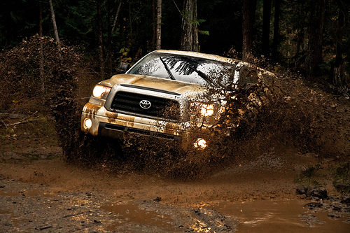 Off-Roading Canada Toyota Style - Tundra Mud Photo