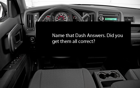 Name that Full-Size Truck Dash - Answers