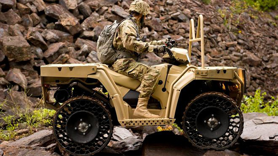 Polaris ATVs Feature Non-Pneumatic Tires in 2014