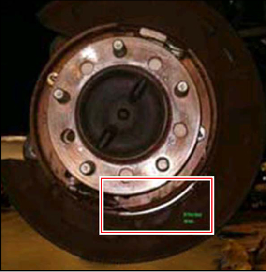 2007-12 Rubbing or Grinding Rear Noise - Rotor Pic